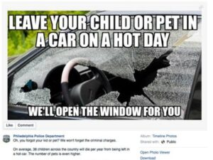 A powerful post by the Philadelphia Police Department reminding anyone who see a dog in a hot car that calling 911 is often the best action to take.