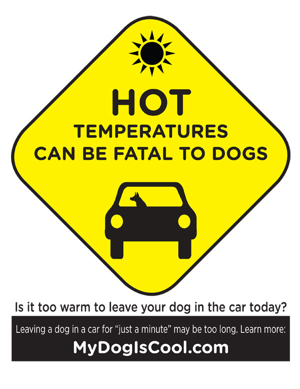 Hot Car Sign - Full Preview